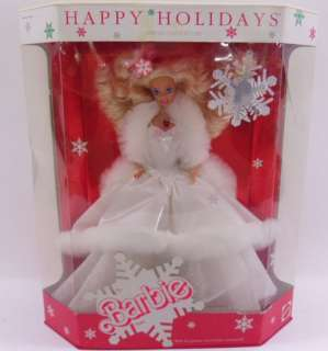 1989 Mattel Happy Holidays Barbie Doll NRFB