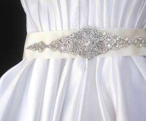 Bridal wedding dress sash brooch buckle jeweled belt