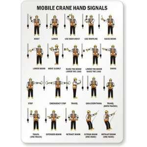 Mobile Crane Hand Signals (with graphic) Aluminum, 14 x