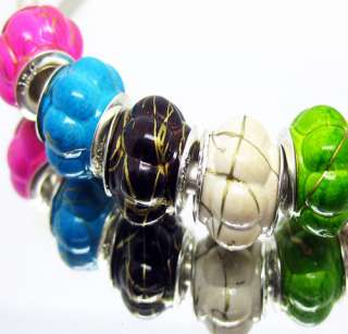 100PCS Mix Acryl beads silver core Fit charm BRACELET
