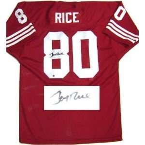 Jerry Rice San Francisco 49ers Autographed Throwback
