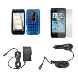 EVO 3D (Sprint) Premium Combo Pack   Blue Thermoplastic Polyurethane