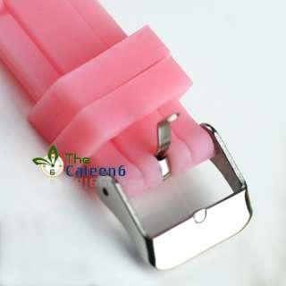 10PCS Jelly Fashion Rubber Sports Crystal Unisex Watch