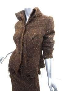 Comme des Garcons Junya Watanabe Brn Tweed Suit NWT SM