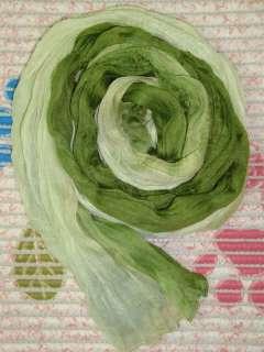 New Gradient Green Wrinkle Scarf Shawl Wrap m011