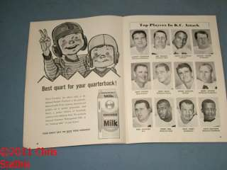 1964 AFL Oakland Raiders vs KC Chiefs Al Davis Head Coach & Cover With