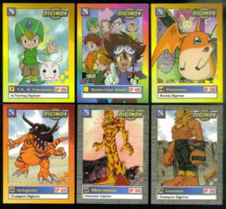 DIGIMON DIGITAL MONSTERS ANIMATED SERIES Card Set