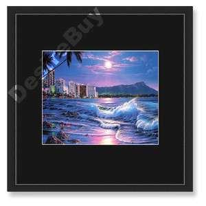 16x16 Christian Riese Lassen, Waikiki Romance, FRAMED   Seascape