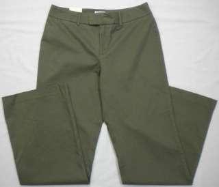 Womens Olive Green Khaki, Chino Cotton/Spandex Blend Pants MSRP$24.98