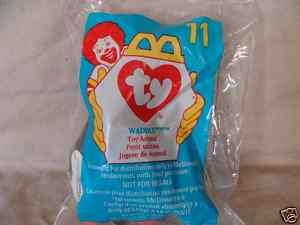 MCDONALDS TY WADDLE THE PENGUIN HAPPY MEAL TOY 1998 NIP