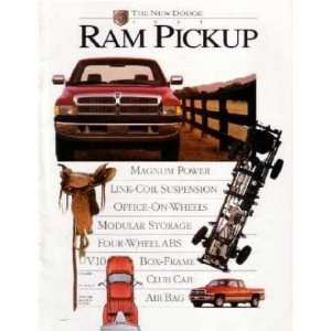 1995 DODGE RAM PICKUP TRUCK Sales Brochure Book