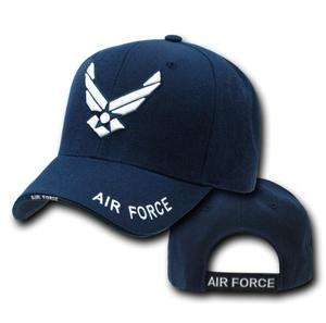 Navy Blue United States USAF Air Force Wings Military Baseball Cap Hat