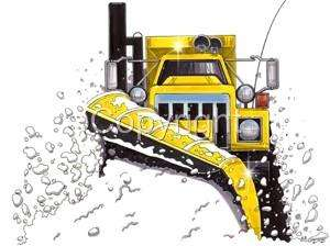 is for our Cartoon Snowplow Sander Big Rig Truck T Shirt Design