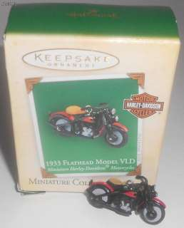 Hallmark 2004 1933 Flathead Model VLD Mini Harley Davidson Motorcycle
