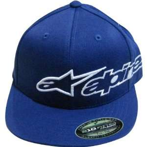 Alpinestars Corporate Logo Mens Fitted Casual Hat/Cap   Blue / Large