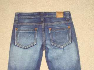 EUC 10 VIGOSS Girls Dark Denim Distressed Skinny Jeans Pants