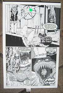 Tim Joe Vigil Original Art Page Gunfighters in Hell Faust