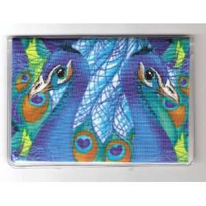 Debit Check Card Gift Card Drivers License Holder Peacock