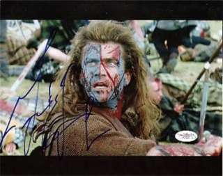 BRAVEHEART signed MEL GIBSON courage to face fear   JSA