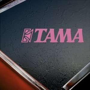 TAMA BASS DRUM LOGO Pink Decal Car Truck Window Pink