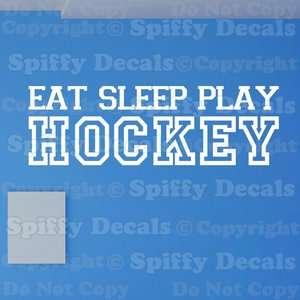 EAT SLEEP PLAY HOCKEY SPORTS Boy Girl Quote Vinyl Wall Decal Sticker