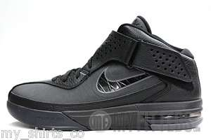 NIKE AIR MAX SOLDIER V All Black Lebron James Signature Mens Sneakers