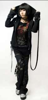 visual kei punk rock fashion t shirt top gothic lolita black jacket