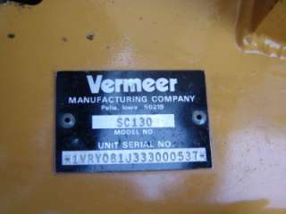 Vermeer SC130 Stump Grinder Cutter Machine 13HP Honda Mint