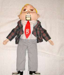 VENTRILOQUIST DUMMY DOLL PUPPET, KIDS TOY EYES AND MOUTH MOVE