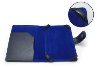 Navy Blue Leather Case Cover Jacket For  Kindle 4
