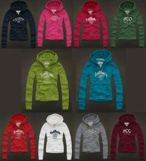 NWT HOLLISTER Abercrombie Womens LAKE HODGES Sweatshirt Fleece Hoodie