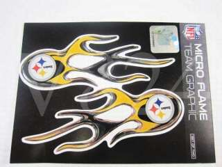 NFL Pittsburgh Steelers Licensed Micro Flames Sticker