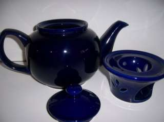 PORCELAIN TEA POT DARK BLUE TEAPOT LIGHT VOTIVE CANDLE