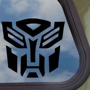 TRANSFORMERS Black Decal AUTOBOT LOGO MOVIE Window Sticker