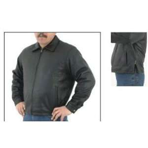 Mens Classic Casual Leather Jacket, Coat has Removable