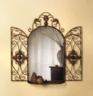 Tuscan Italian Old World Arched Wall Grille Panel Wall Decor