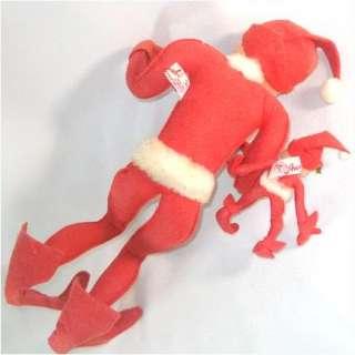 Annalee Christmas Pixie Elf Soft Sculptured Dolls Pair