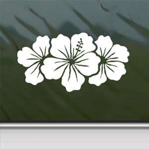 Hibiscus Group White Sticker Car Laptop Vinyl Window White