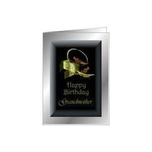 Grandmother Happy Birthday ~ Fractal Love Birds Card