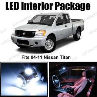 White LED Lights Interior Package Deal Nissan Titan