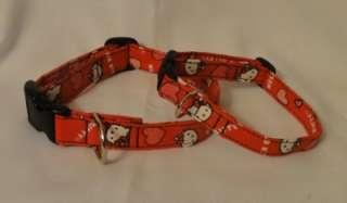 Hello Kitty Custom Dog/Pet Collar CUTE Red Pink Hearts
