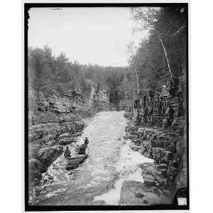 Running the rapids,high water,Ausable Chasm,N.Y.