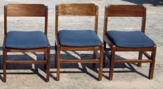 Solid Wood Chairs w/ Padded Seat