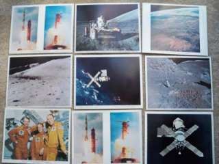 LOT OF 9 VINTAGE NASA PICTURES APOLLO 15, 17, SKYLAB 1 & 2
