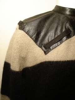 Vtg UMBERTO GINOCCHIETTI Wool Stripped Sweater XL Short