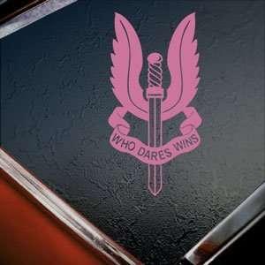 SAS Special Air Service SASR NZ UK Pink Decal Car Pink