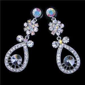 Bridal Drop Pure Austrian Rhinestone Crystal Necklace Earring Set
