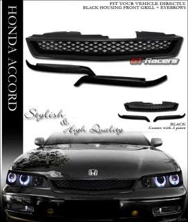 ACCORD JDM BLACK MESH FRONT BUMPER GRILL GRILLE+EYELIDS