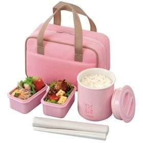 Japanese Lunch Box Set Tiger Lunch thermos PINK LWY