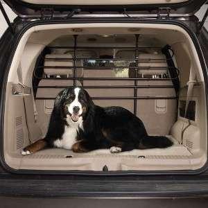 Adjustable Tubular Pet Dog Vehicle Barrier Auto SUV BLK